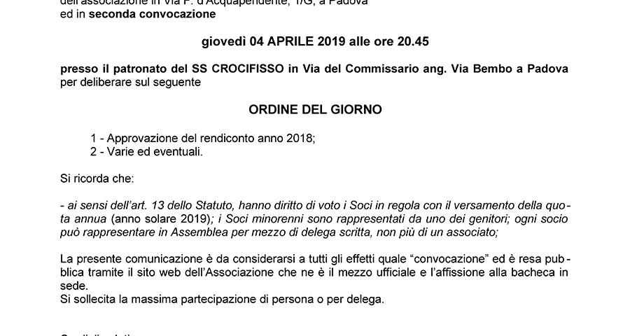 Convocazione-Assemblea-Ordinaria 04-04-2019